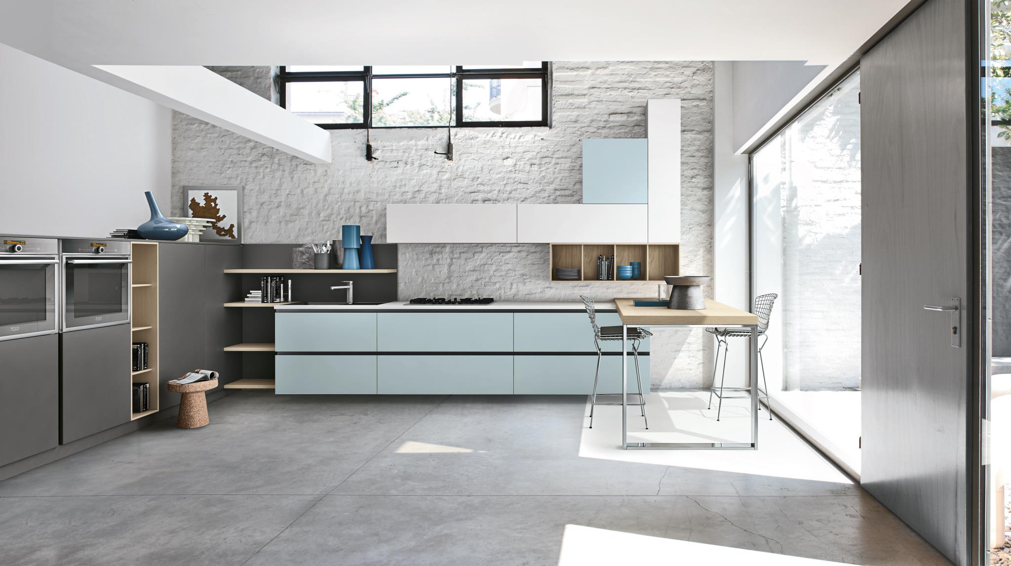 Si Sa Ognuno Ha I Suoi Gusti: Classico Country O Moderno. #4A5F6C 2048 1146 Arredamento Cucina Classico Moderno