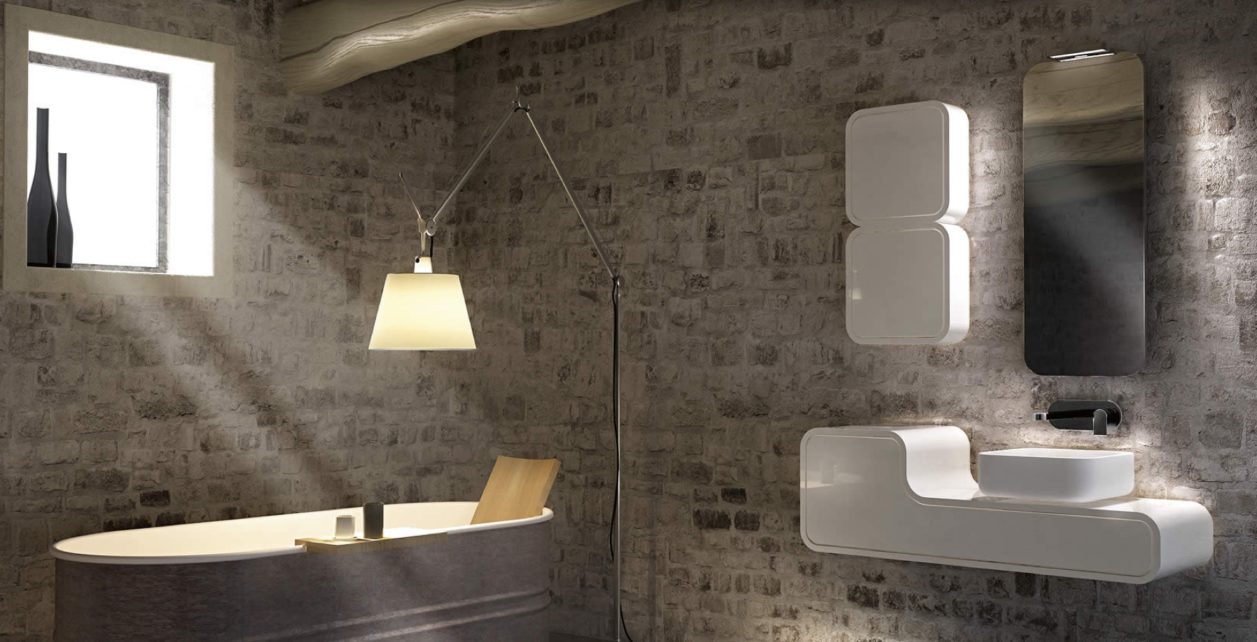 Arredamento Vasca Da Bagno Piccola : Interni d autore arredamenti u doccia o vasca da bagno