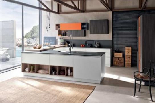Interni d 39 autore arredamenti cucina con isola 4 - Isola cucina con tavolo ...